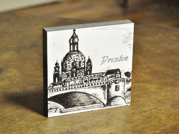 "Wooden painting - Dresden ""Canalettoblick"""