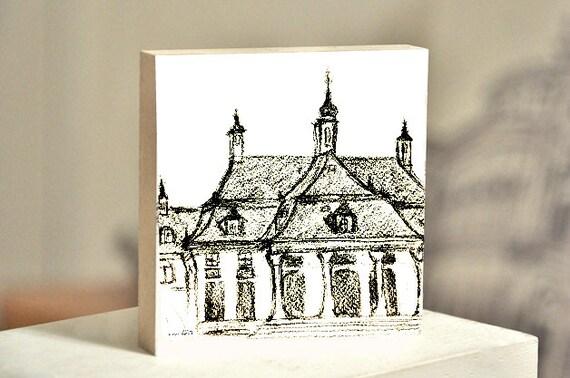 """Frame 10 x 10 cm-Dresden """"Schloss Pillnitz"""""""
