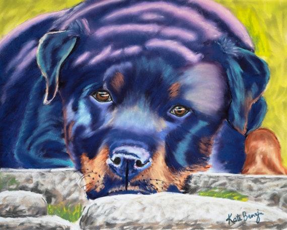 Rottweiler Original Art Rottweiler Lover Rottweiler Gift