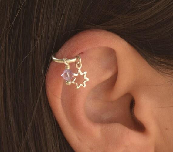 Star Helix Piercing Hoop Helix Piercing Helix Earring Hoop Etsy