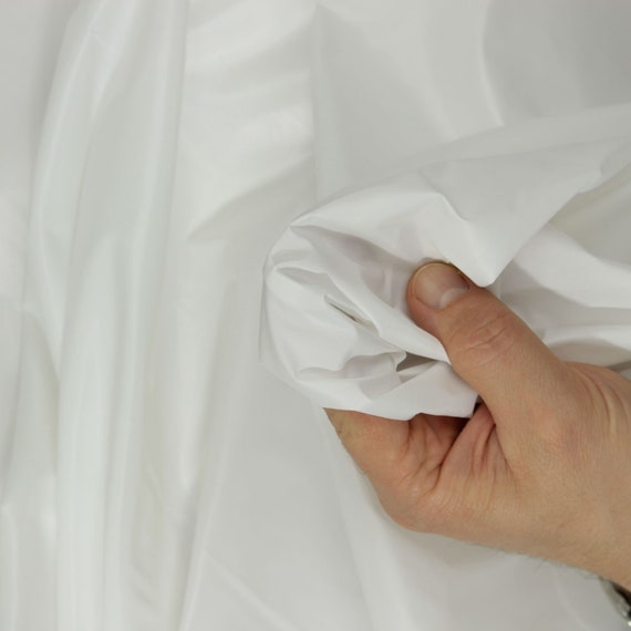 """5 MTR WHITE POLYESTER TAFFETA LINING FABRIC...58/"""" WIDE SPECIAL OFFER £9.99"""