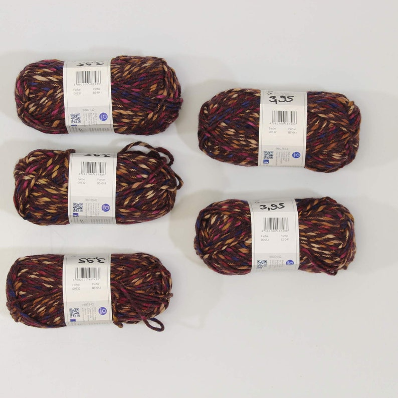 Schachenmayr 4.30 EURpcs package wool knitting yarn Boston Style Burgundy 5x50gr