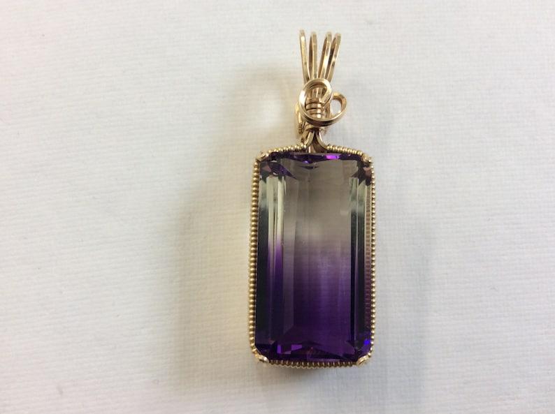 Huge Purple /& Clear Ametrine Pendant #42