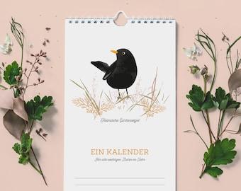 Birthday calendar - birds