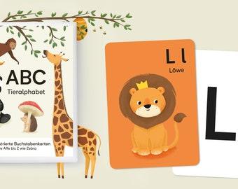 ABC Alphabet Card Set, DIN A6 (105 x 148 mm)