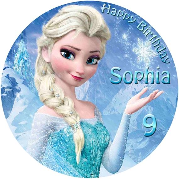 -Elsa---Tortenbild--Fondant ////Oblate FOTOTORTE--Tortenaufleger