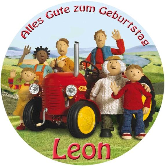 Tortenaufleger Kleiner Roter Traktor Tortendeko Mit Etsy
