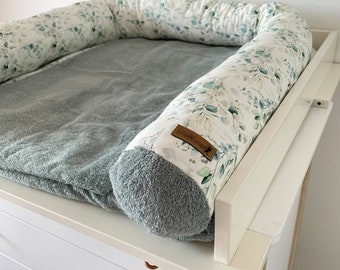Bed snake eucalyptus with terry cloth old green