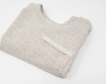 Sweater with bag cream mottled