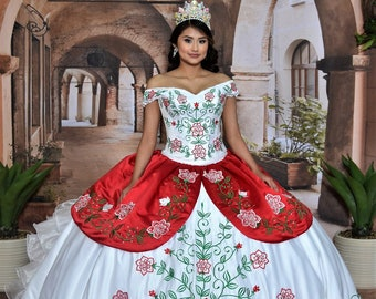 71b482271ef Charra Dress With Embroidered Roses  10194