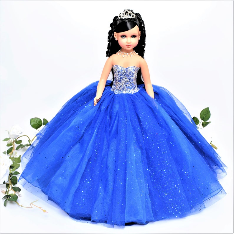 015f3ae6fee 20 Royal Blue Last Quinceanera Doll or Ultima Muneca