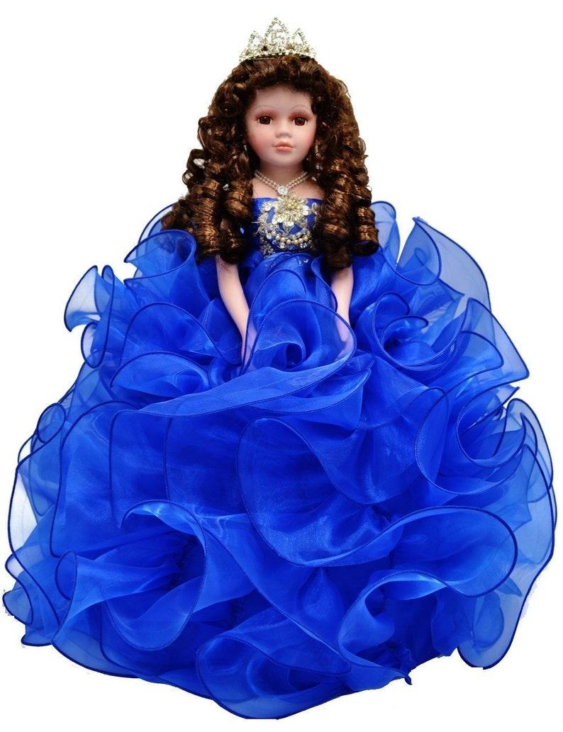 e63e8bc868f 18 Royal Blue Quinceanera Doll or Ultima Muneca