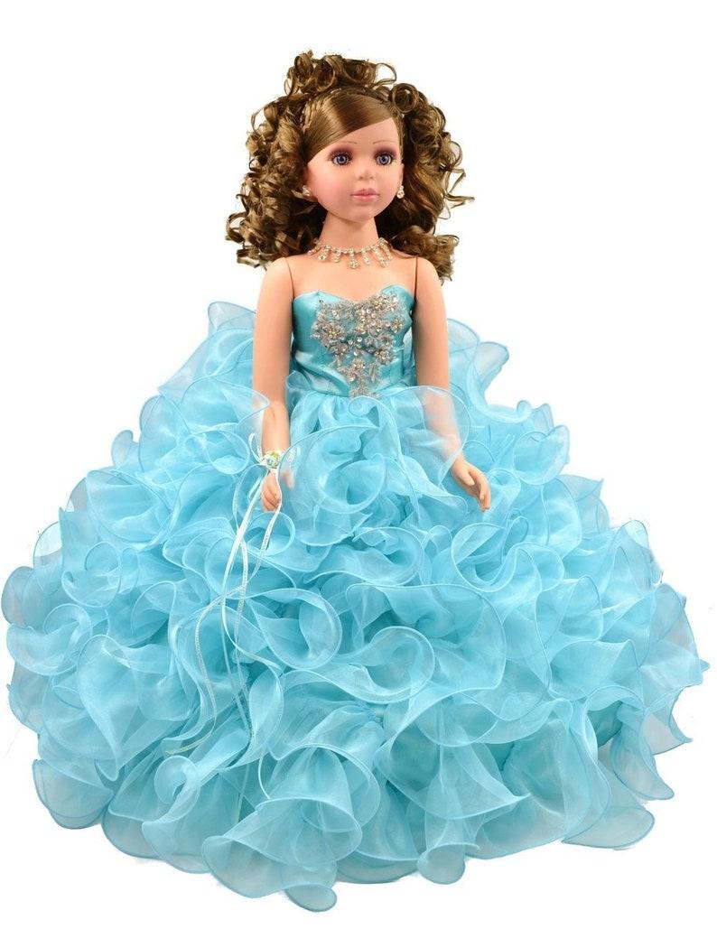 c6f89864d28 28 Aqua Quinceanera last Doll Ultima Muneca