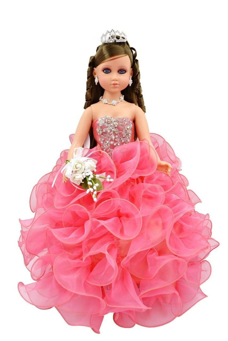 608a58a8f28 20 Coral Quinceanera Last Doll Ultima Muneca