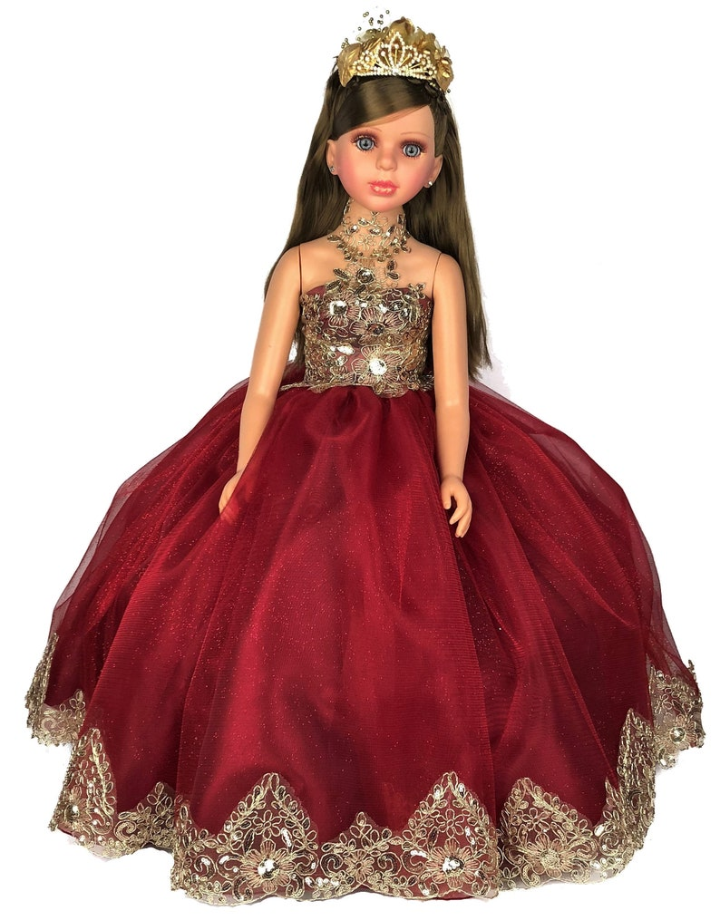10ef21f3827 28 Wine Color Quinceanera Last Doll Ultima Muneca