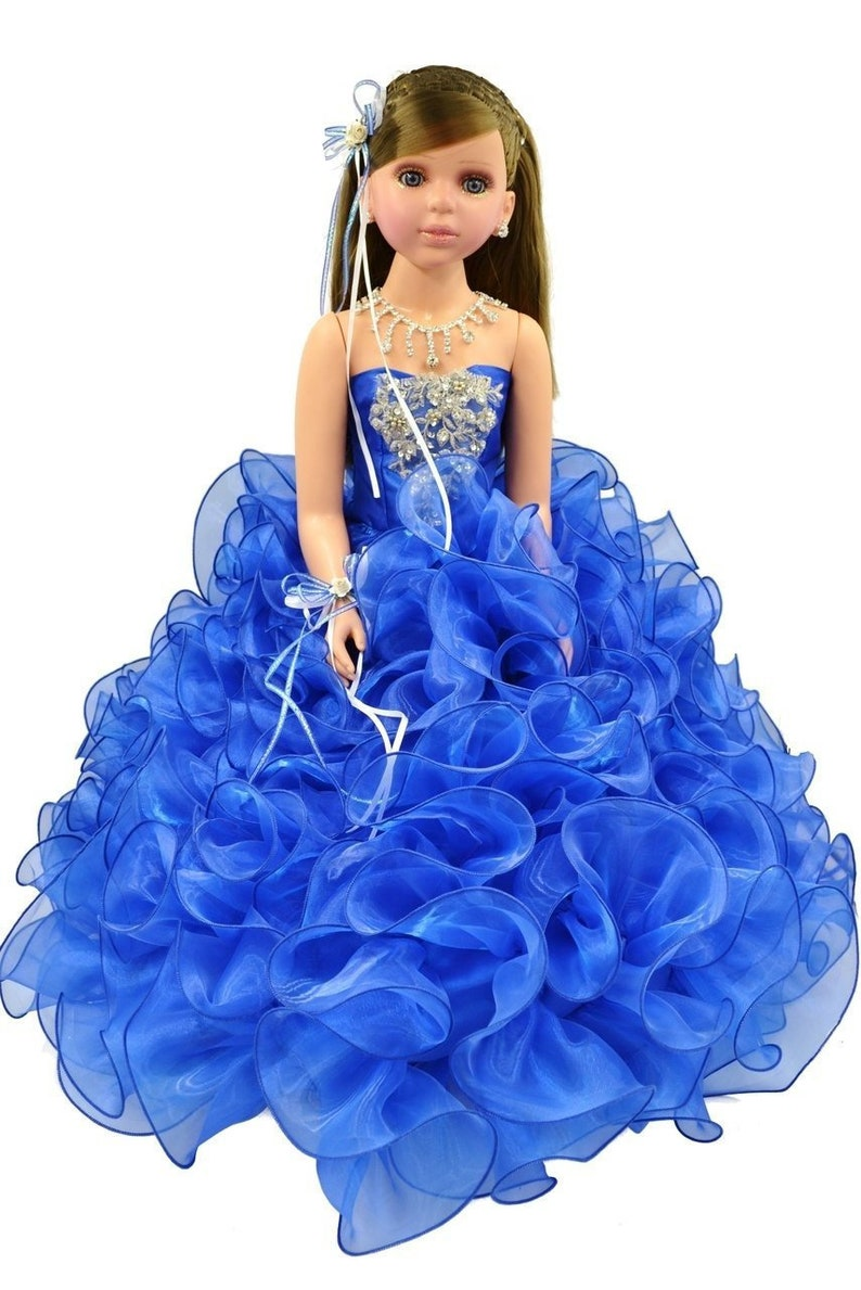 9367afa62e4 28 Royal Blue Quinceanera Last Doll Ultima Muneca