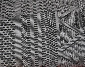 Jaquard jersey black patterned