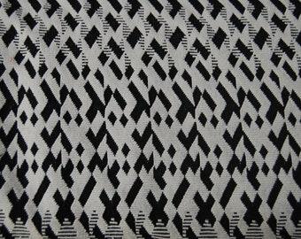 Jaquard jersey white black patterned