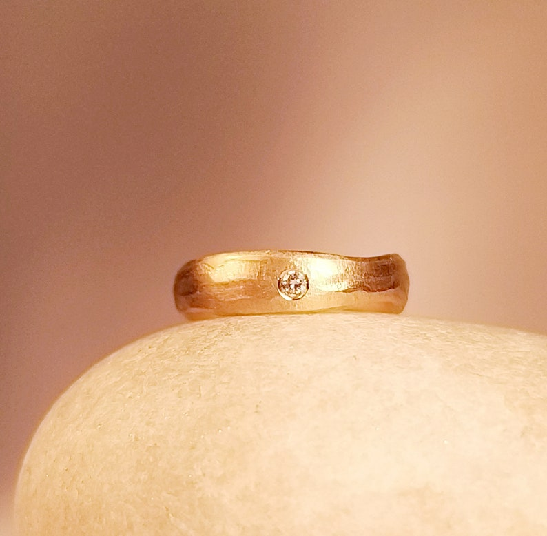 golden engagement ring  UNGLEICH & Rosé  with brilliant  image 0