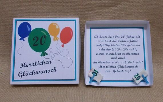 Geldgeschenk 20 Geburtstag Geschenk Geldgeschenk Für Freund Geschenkzum Geburtstag Themen Geschenk