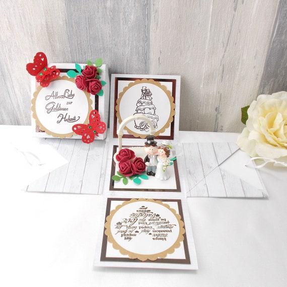 Hochzeit Geldgeschenke Box Just Married- 36 cm