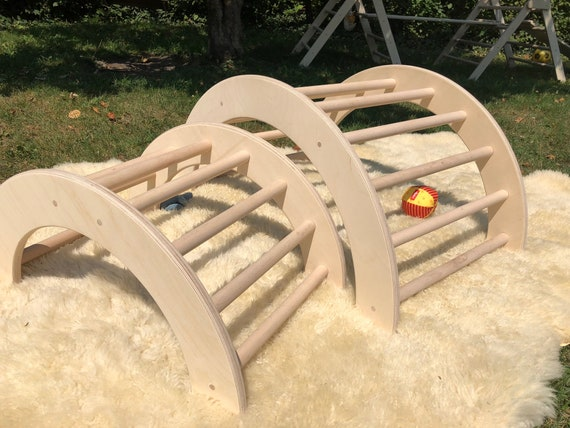 Kletterbogen Holz Schweiz : Kletterbogen bogenleiter pikler art zweier set etsy