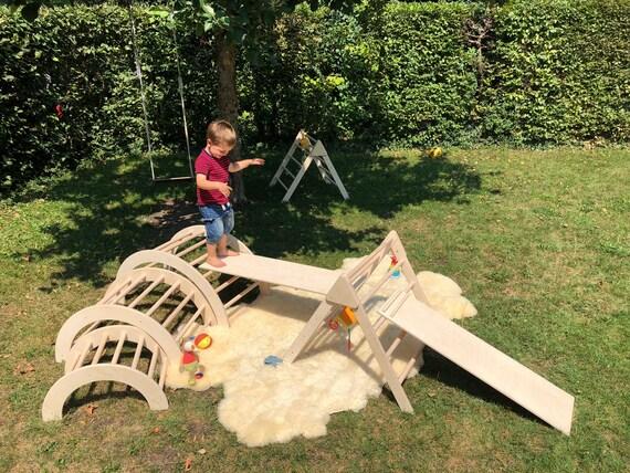 Kletterbogen Outdoor : Kletterbogen bogenleiter pikler art groß einzeln etsy