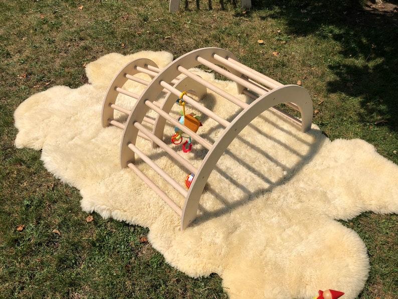 Kletterbogen Garten : Kletterbogen bogenleiter pikler art zweier set etsy