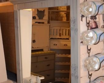 Brocante Spiegel Ovaal : Floor mirrors etsy