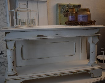 Shabby Chic/Country House Side Table/Flower Bank/Tv Bank