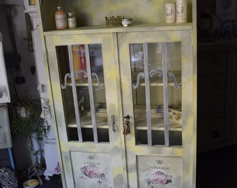 Shabby Chic/Country House Bookcase/Crockery Cabinet/Bathroom Cabinet/Hallway Cabinet
