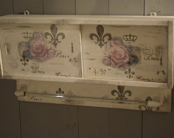 Shabby Chic/Vintage/Country House Chest/Cabinet/Cabinet/Hanging Cabinet/GDR Retro