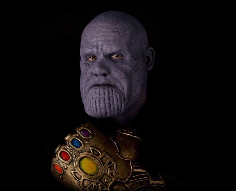 SuperheroSupervillian Special FX Makeup Thanos Foam Latex Prosthetic Mask