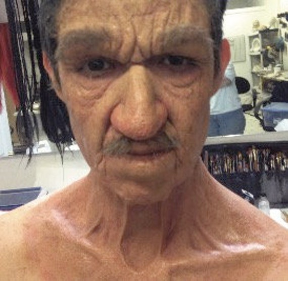 Halloween - Special FX Makeup - Old Age Foam Latex Prosthetic Combo - Neck,  Nose, Brow, & Optional Lip