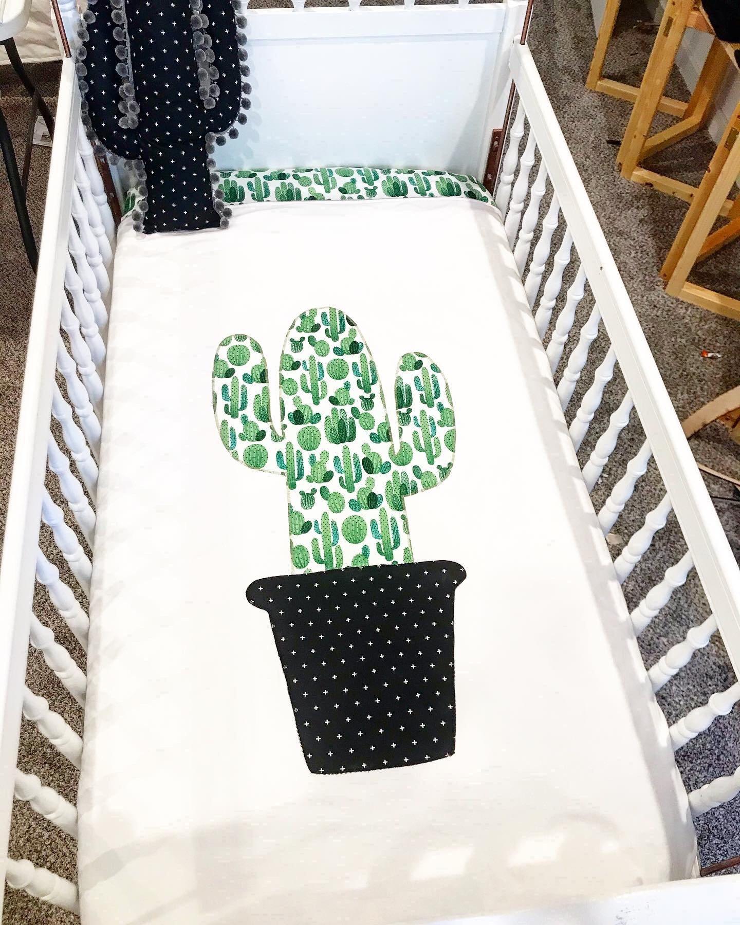Cactus Crib Literie et Crib Quilt