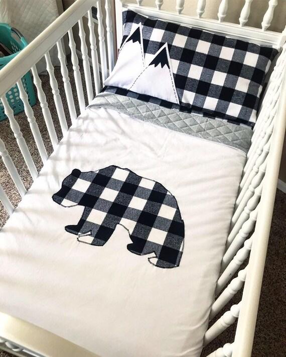 Bear Mountain Crib Bedding Buffalo, Buffalo Plaid Crib Bedding Set