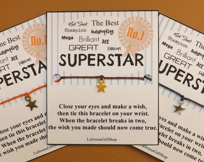 No 1 Superstar Wish Bracelet