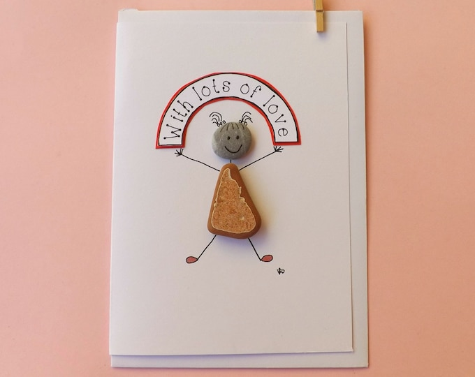 Pebble Art Indalina Greeting Card