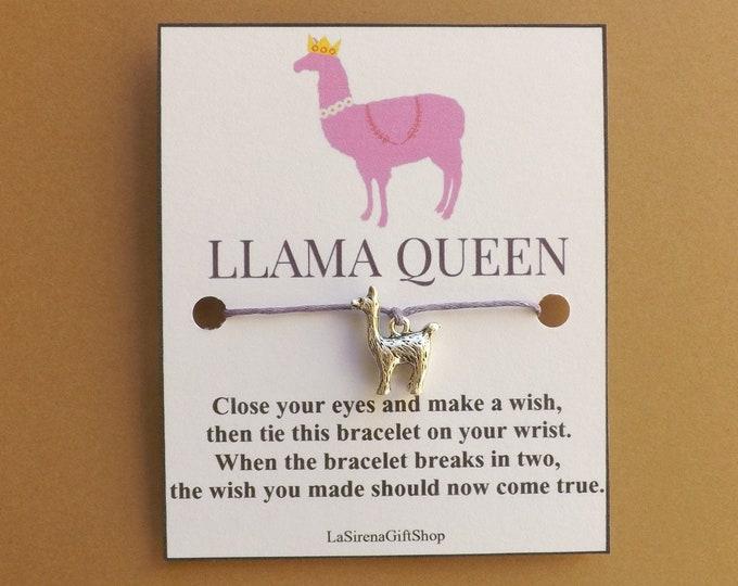 Llama Queen Wish Bracelet