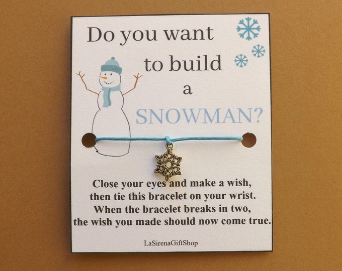 Do You Want To Build A Snowman Snowflake Wish Bracelet