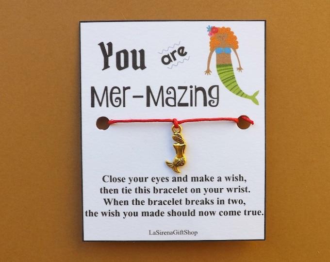 You Are Mer-Mazing Mermaid Wish Bracelet