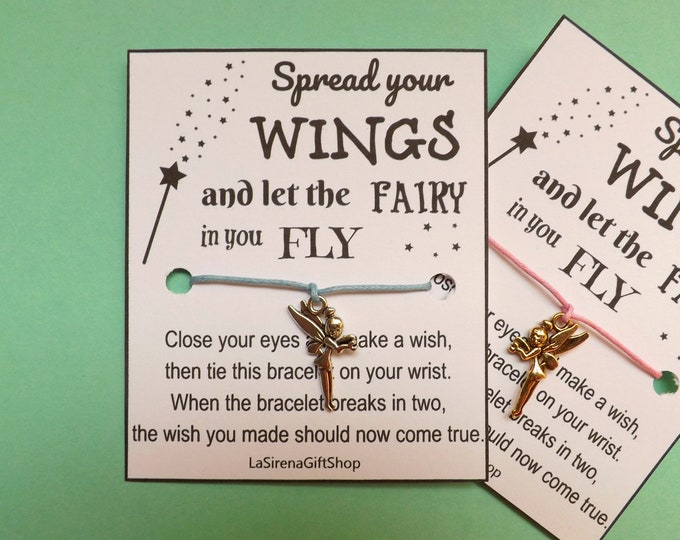Spread Your Wings and Let the Fairy in you FLY Wish Bracelet