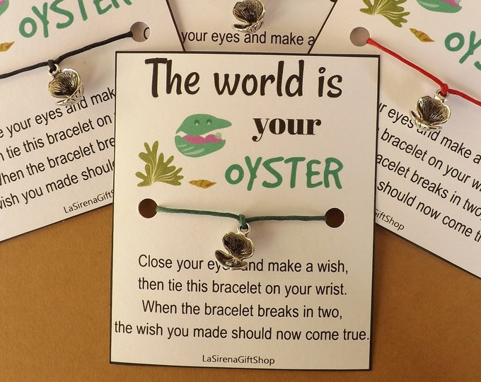 World Is Your Oyster Wish Bracelet