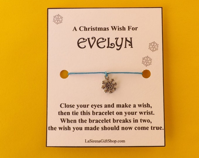 A Christmas Wish For Personalized Wish Bracelet