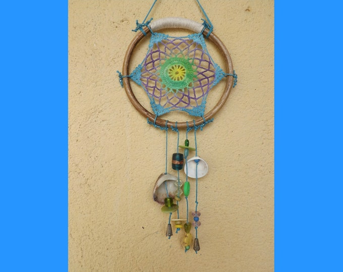 Dreamcatcher ~ Coastal Themed ~ Mixed Colors ~ Shell