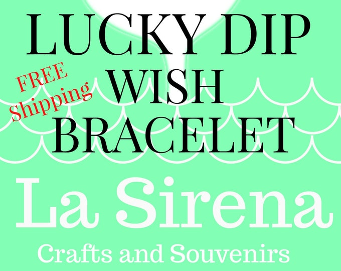 LUCKY DIP Wish Bracelet with Random Charm Sent