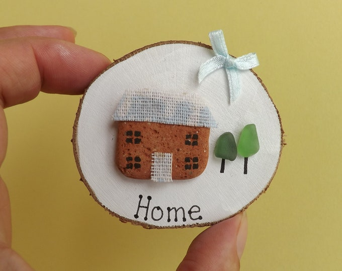 MTO Sea Pottery Art Wood Slice Cute Home Cottage