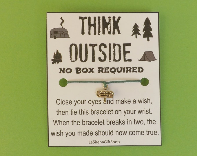 Think Outside No Box Required Wish Bracelet
