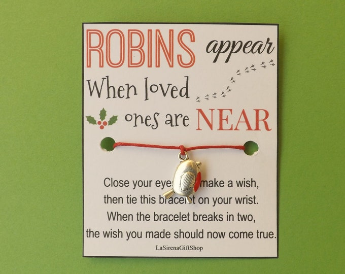 Robins Appear When Loved Ones Are Near Robin Wish Bracelet