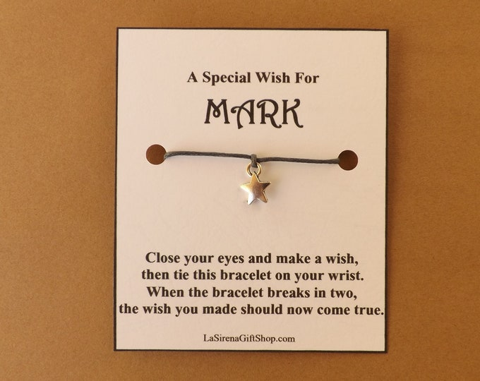 A Special Wish For..... Personalized Star Wish Bracelet